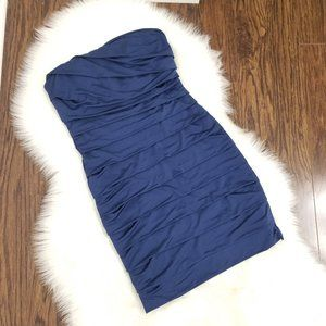 Speechless | Blue Strapless Bandage Dress Medium